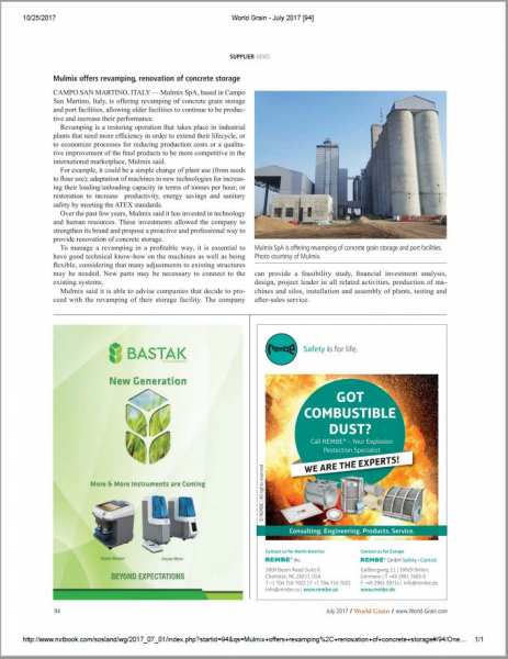 What is revamping? Our editorial for the International magazine World Grain